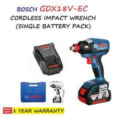 BOSCH GDX18V-EC CORDLESS IMPACT WRENCH/DRIVER (SINGLE BATTERY PACK)