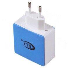 BTY M531 Dual USB AC Power Adapter Charger - Blue + White(EU Plug / 100~240V)