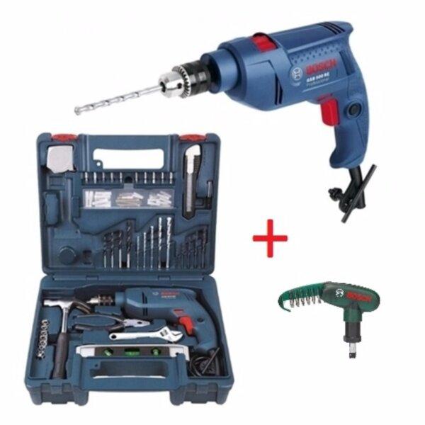 [Bundle Set] Bosch GSB 500 RE Impact Drill Power Tools Set (06011A01L0) + 10pcs Pocket Screwdriver Bit Set (2607019510)