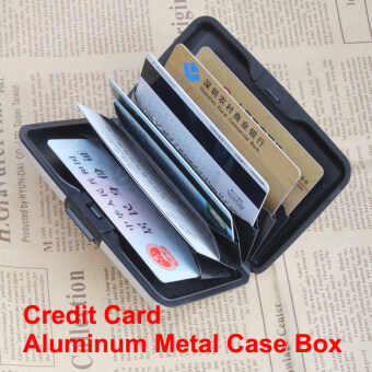 Business ID Name Credit Card Wallet Holder Aluminum Metal Case Box Waterproof (Intl)