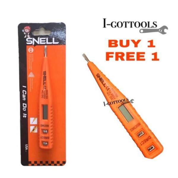 BUY 1 FREE 1 SNELL Digital Electrical Multi-sensor 12-250V AC.DC Measure Voltage Detector Test Pen SN09-555