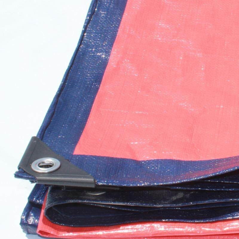 Canvas (Korea) 6  x 15  Ready Made PE Tarpaulin Sheet (Blue Orange) Outdoor Construction Renovation Floor Cover Canopy Tent Side Wall Shield Waterproof UV Protection with Grommets Eyelets Kanvas Biru Oren