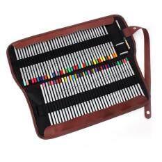 Canvas Pencil Wrap Pencils Holder Roll PouchPencil Bags color:Black size:72 holes