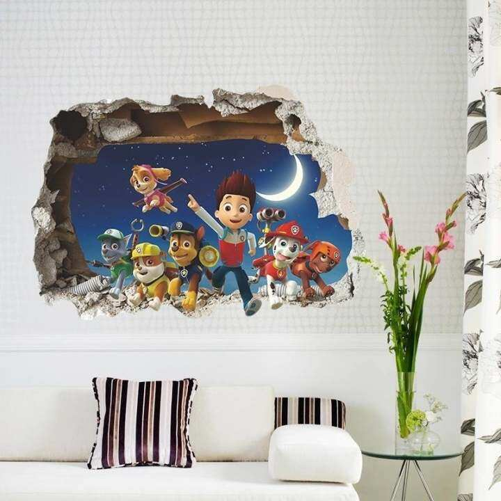 Cartoon Films Through Wall Stickers Art Decals for kids room 3d Wallpaper Boy's Room Decor 1482 Gift Nursery Home Decoration