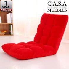 CASA MUEBLES: Foldable Adjustable Reclining Futon Long Sofa Chair (110x40x12)cm