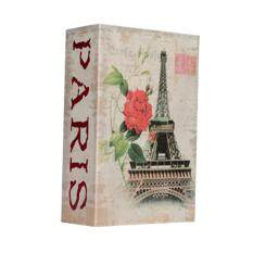 Cash Money Jewelry Simulation Dictionary Pattern Security Box size:1 Eiffel Tower