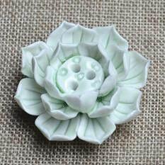 Lb Keramik Dupa Stik Pembakar Pemegang Lotus Dupa Burner Penangkap Abu Piring dengan 1/3 Lubang Ukuran: Hijau Bunga Tiga Lubang