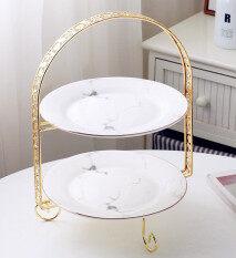 Ceramic Three-Tier Fruit Plate Basket Cake Stand Dessert Dried Fruit Plate By Hofsteio.