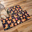 Cartoon suede bed step foot mat floor mats