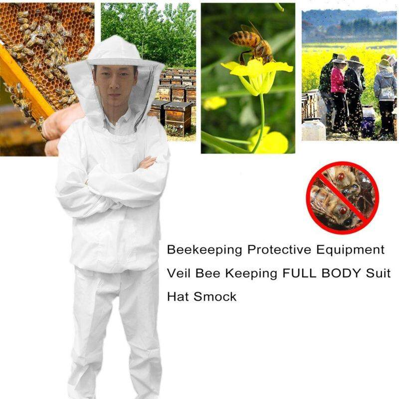 CHEER Beekeeping Protective Equipment Veil Bee Keeping FULL BODY Suit Hat Smock XL