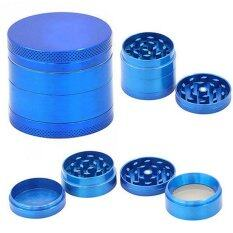Chic Mini 4 Layers Metal Tobacco Crusher Hand Muller Smoke Herbal Herb Grinder Blue