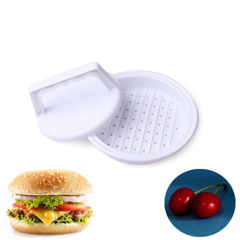 Chic Plastic Burger Press Hamburger Meat Beef Grill Cooking Maker Kitchen Mold White - intl