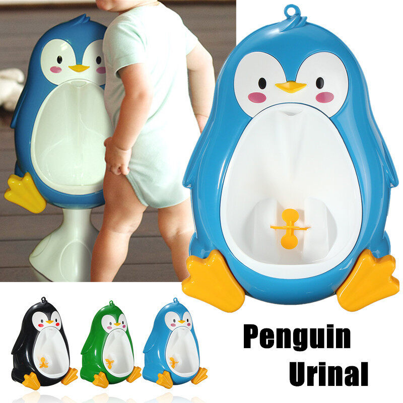 Children Potty Toilet Training Kids Penguin Urinal For Boys Pee Trainer Bathroom Blue - intl Philippines