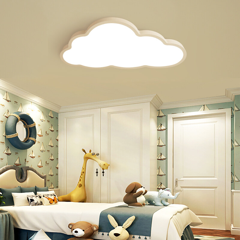 Childrens Room Cloud Ceiling Lamp LED Ultra-thin Cartoon Wall Lamp Bedroom Lamps - White Light