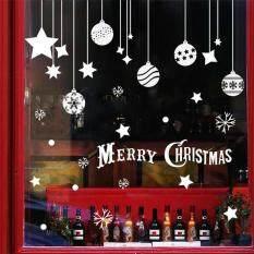 Natal Indah Kepingan Salju Decal Mural DIY Stiker Dinding Stiker Dekorasi Kaca