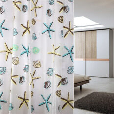 Classic Sea Shell Peva Bathroom Waterproof Mildew Proof Shower Curtain By Sportschannel.