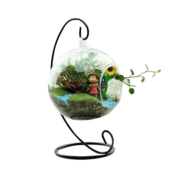 Thủy Tinh Tròn với 1 Lỗ Hoa Vật Có Treo Bình Hoa Trang Trí Nội Thất Văn Phòng Phòng-quốc tế