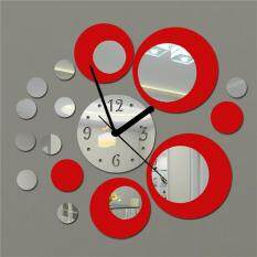 Clock Circle Mirror Effect Wall Sticker Artistic Modern Room Home Decoration By Saista Store.