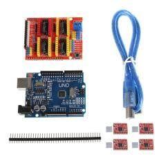 CNC Shield V3 3D Printer+4xA4988 Driver +UNO R3 For Arduino W/USB Cable Giảm Cực Hot