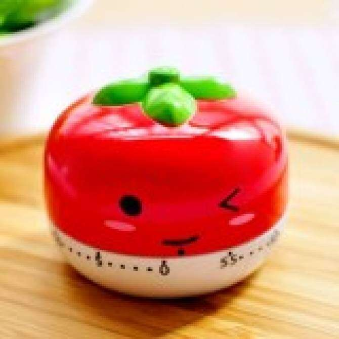 Cocotina Plastic Cartoon Kitchen Cooking Timer 60 Minutes Baking Alarm Clock - Red Tomato Shape -
