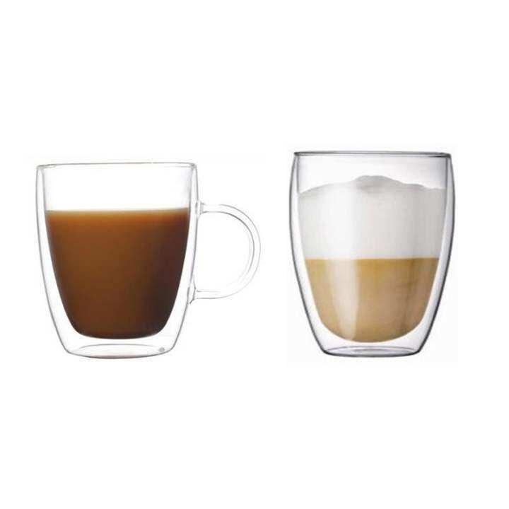 Coffee Mug With Handle Double Layer Glass Mug Lazada