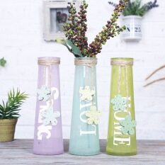 Home tools diy outdoor buy home tools diy outdoor at best colorful modern style glass tabletop plant bonsai flower wedding decorative vase with hemp rope home decoration junglespirit Images