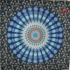 พิมพ์พรมทอแขวนผนังลายแมนดาล่าศาสนาโบฮีเมียผ้าห่มชายหาด (สี: 22, ขนาด: L) By All About Home.