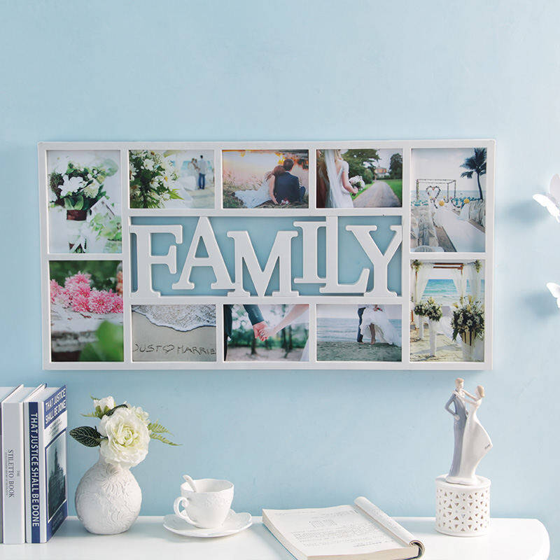 Combination photo frame wall family love6-inch 7-inch photo frame creative baby album art Photo Frame wedding - intl