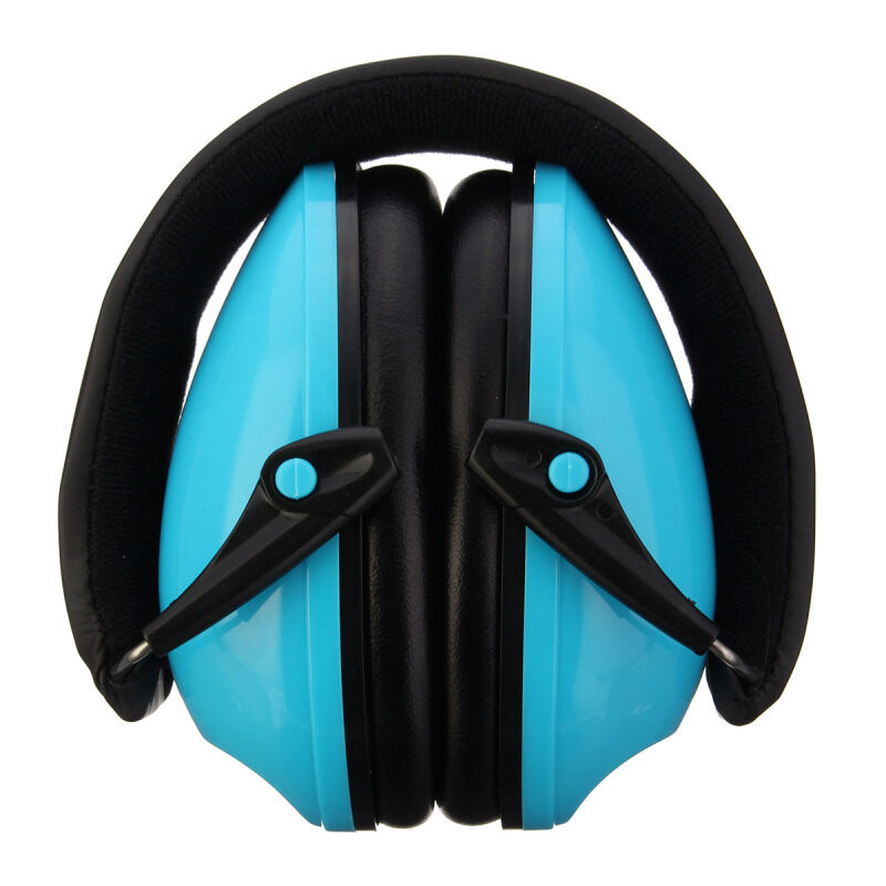 Comfortable Ear Protector Anti-noise Hearing Protection Earmuffs Headset Soundproof Ear muff--(NOT Electronic)   Blue NEW