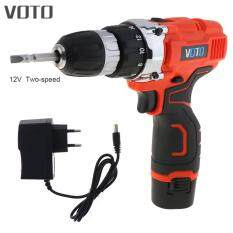 Cordless 12V Electric Screwdriver with Rotation Adjustment Switch and Two-speed Adjustment Button for Handling Screws / Punching