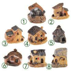 Cottages word micro landscape decorative resin ornaments small houses and villas props  Type1