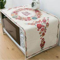 Cotton Linen Microwave Oven Dust Covers Washable Microwave Oven Hood Microwave Oven Towel 35x100CM
