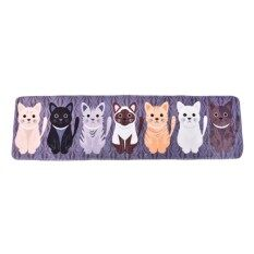 Creative Cartoon Cute Cat Print Door Bathroom Floor Bedroom Matentrance Mat Multicolor 50*180Cm
