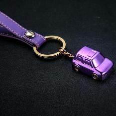 Dsstyles Kreatif Modis Mobil LED Logam Gantungan Kunci Liontin dengan Bercahaya Gantungan Kunci Unik Dekorasi Spesifikasi