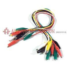 Crocodile / Alligator Clip With Wire 50cm - 10pcs Per Pack By Autobotic Sdn Bhd.