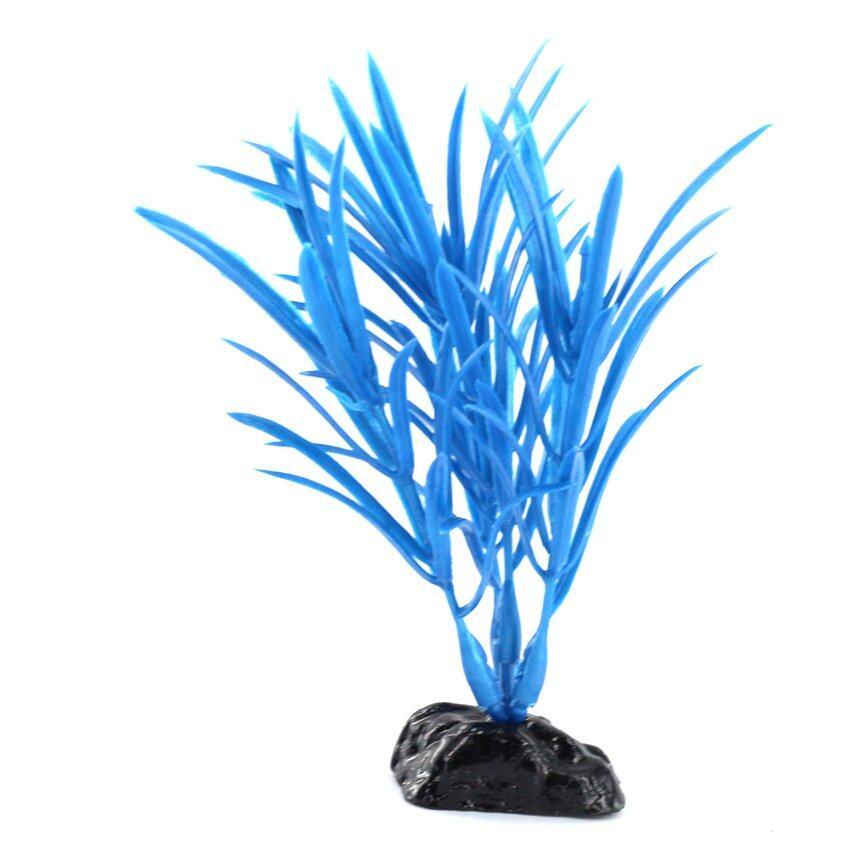 CTO Artificial Plant Aquarium Decoration Fluorescent Blue - intl