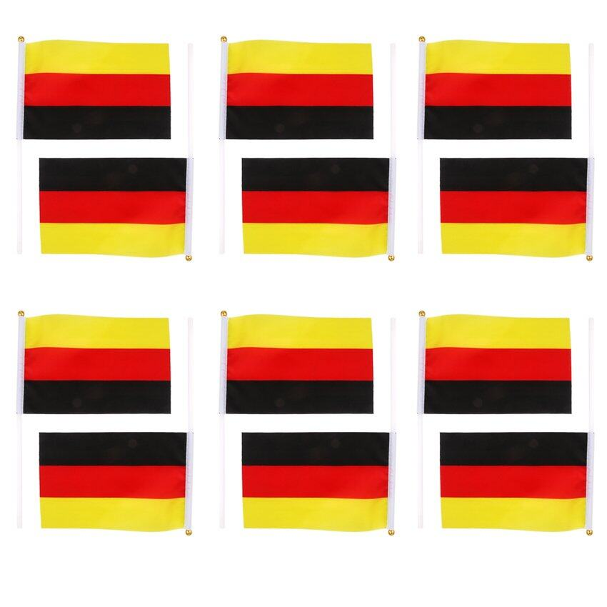 CTO Germany Flag German National Flags Hand Waving Flag with Poles 12Pcs - intl