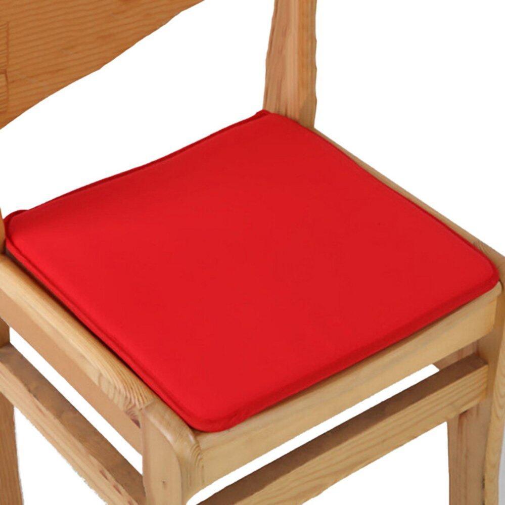 Bantal Kursi Kantor Garden Indoor Kursi Makan Dasi Pad Di Square Busa Teras Inggris Merah-Internasional