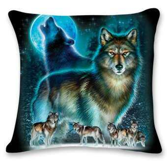 cute wolf tower sofa bed home decoration festival pillow case cushion cover intl dan. Black Bedroom Furniture Sets. Home Design Ideas
