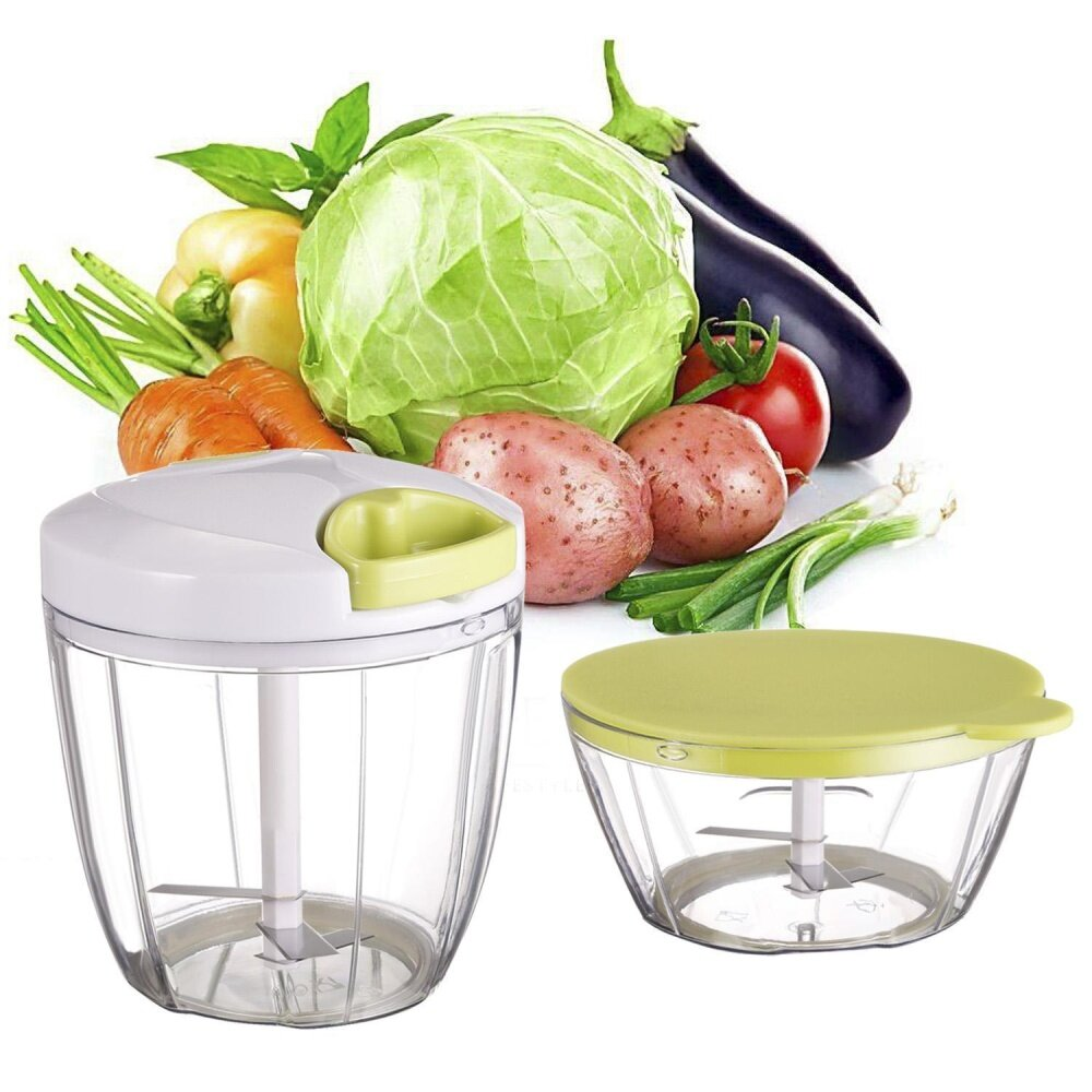 Deals For Sale At Breakdown Price Cyber Clearance Sale Mini 2 In 1 Pull String Chopper Manual Food Processor Vegetable Fruit Garlic Herb Slicer Intl