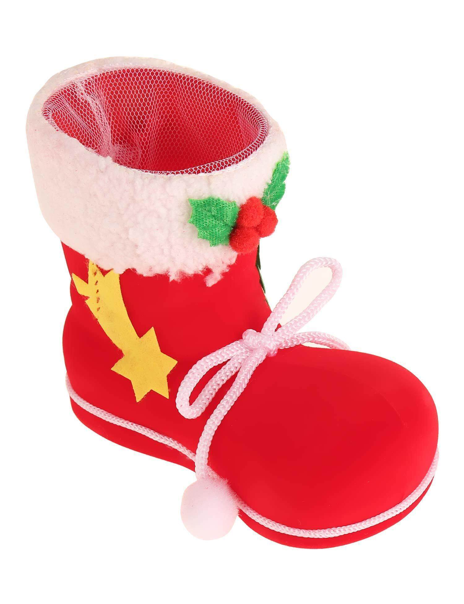 Cyber Top Sale Candy Boots Flocking Socks Christmas Gift Xmas