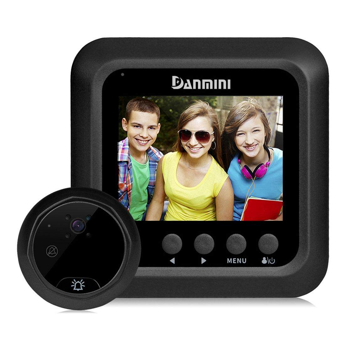 Purchase Danmini W5 2 4 Inch Screen 2 0Mp Security Camera No Disturb Peephole Viewer Support Tf Card Night Vision Video Recording Black Intl