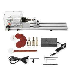 DC24V Mini Lathe Beads Machine Woodworking DIY Lathe Standard Set w/Power Supply