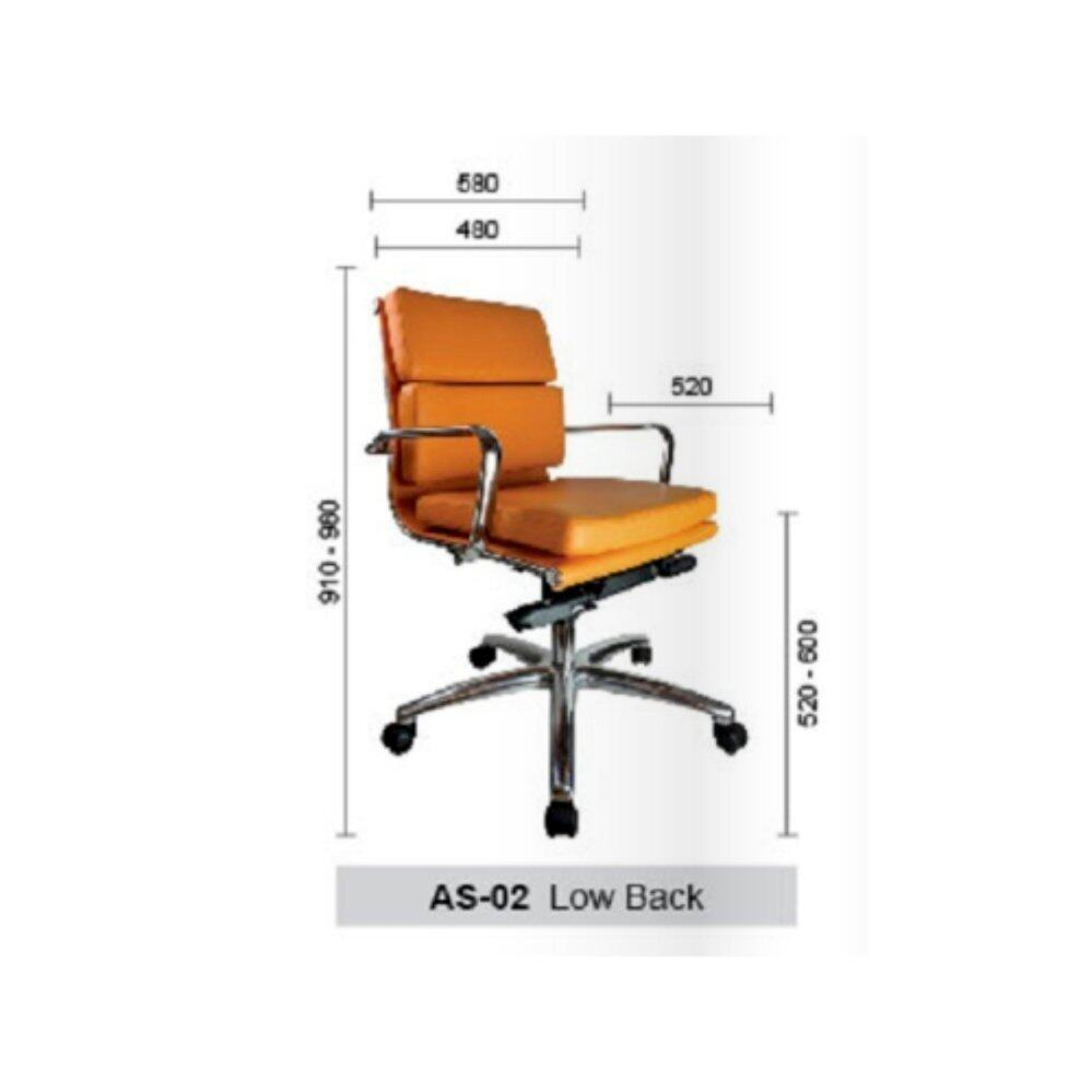 Deco Alessio Office Chairs Leather Executive Low Back Recliner Computer Desk Swivel Chair ( Orange Color ) Pre-Order 2 Weeks