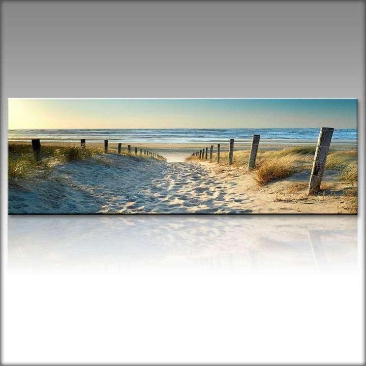 Decor Canvas Print Wallpaper Art Ocean Beach Nature landscape picture Unframe 40x120cm