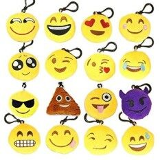 Decorations  Keychains - Mini  Toy Plu Cushion Pillows Set - Funny Kids Party Supplies Favors - Easy Installation Char With Durable Hook Clip - Set Of 16 Soft Smiley Face  Key Chains