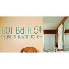 Design with Vinyl OMG 125 ~Hot Bath 5 ~~SOAP & Towel Extra~~ Quote Bathroom Home Decor, 10-Inch by 40-Inch~, As Seen