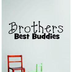 Design with Vinyl OMG 342 Black Brothers Best Buddies Quote Lettering Decal, 8 x 30-Inch, Black