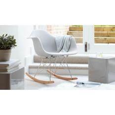 Designer Eames RAR Plastic Rocking Chair/Lounge Chair/Armchair (White)