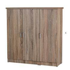 Dhome SU3599 3 doors Children Wardrobe ( Sonoma Dark)